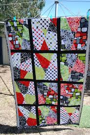 the first stack and slash quilt i have made loved the pop of the