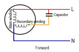 single phase motor wiring diagram capacitor start run circuit