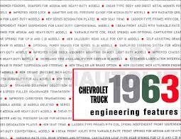 1963 chevrolet pickup u0026 truck reprint owner u0027s manual