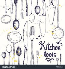 seamless background eating utensils menu pattern stock vector