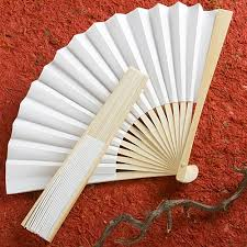 personalized folding fans white folding fan