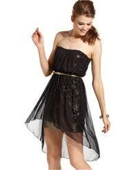 hailey logan juniors dress strapless ruffle sequin dresses
