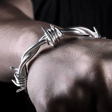 silver wire bangle bracelet images Wire bangle for men heavy design JPG