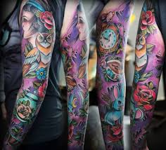 tattoos colored ink sleeve and