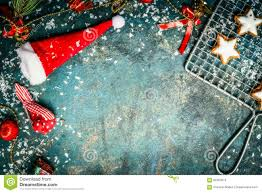 christmas background with santa hat snow red winter decoration