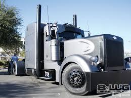 volvo otr trucks custom matte finish gray and black peterbilt big custom trucks