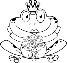 pictures frogs crown color print coloring pages