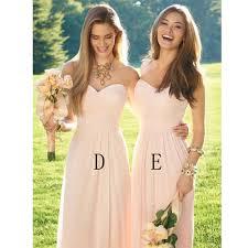 elegant long light pink bridesmaid dress 2016 halter pleat chiffon