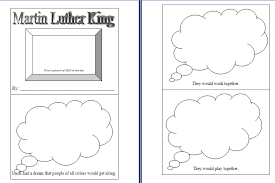 martin luther king day unit theme lessons activities printables
