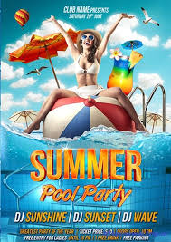 35 best summer pool party flyer print templates link http www