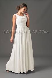 robe de mari e simple pas cher simple robes de mariée pas cher drapée chiffon col rond