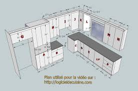 plan cuisine l plan cuisine cuisine contemporaine meubles rangement