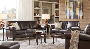 Coffee Table Rooms To Go Cindy Crawford Home Lusso Coffee Bean Leather 2 Pc Living Room