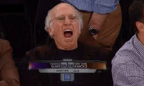 Larry David Meme - larry david is not entertained by the knicks gif total pro sports