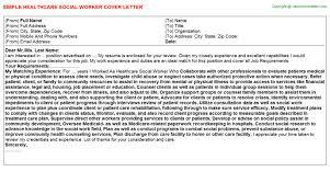 healthcare social worker job title docs