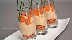 cuisine de a à z verrines verrines de mousse de saumon fumé et crevettes grises recette par