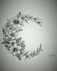 moon flower tatuagem lua flores tattoos