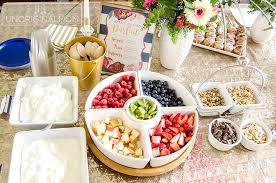 brunch bridal shower bridal shower brunch yogurt parfait bar unoriginal