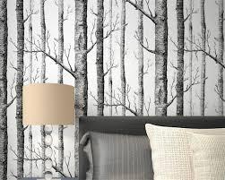 Wohnzimmer Tapeten Weis Online Kaufen Großhandel White Birch Tapete Aus China White Birch