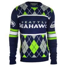 seattle seahawks nfl argyle sweater clarktoys exclusive
