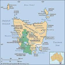 map of tasmania australia hobart tasmania australia britannica