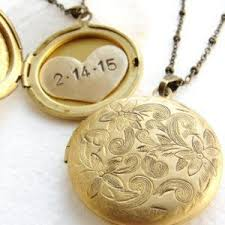 personalized heart locket personalized jewelry custom wedding date necklace initial necklace