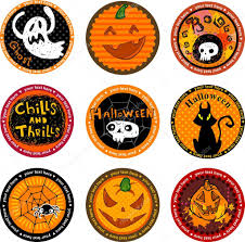 Halloween Banners by Halloween Banners Or Drink Coasters U2014 Stock Vector Azzzya 32871815