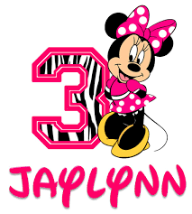 custom minnie mouse zebra birthday shirt