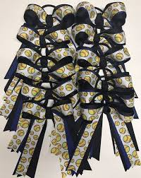 softball bows 139 best softball bows images on ponytail holders