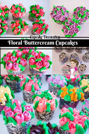 floral buttercream cupcakes with russian piping tips veena azmanov