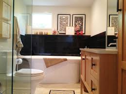 light brown vanity with granite countertop also mounted washbasin light brown vanity with granite countertop also mounted washbasin using faucet and toilet beside paper holder black wall tile decoration ideas