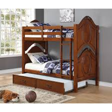 Cherry Bunk Bed Acme Cherry Solid Wood Classique 37005 Bunk Bed With