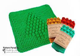 free knitting pattern christmas tree dishcloth free crochet pattern christmas tree dish cloth pattern paradise