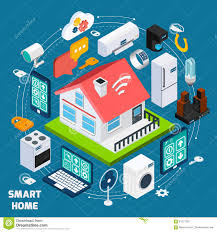 smart home iot isometric concept banner stock vector image 61971822