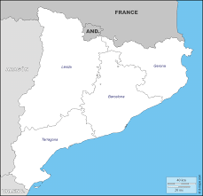 Tarragona Spain Map by Catalonia Free Map Free Blank Map Free Outline Map Free Base