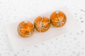 orange bauble decorations free stock photo domain pictures