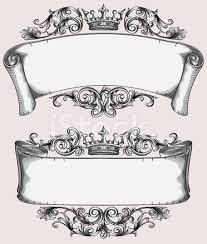 retro decorative scrolls stock photos freeimages