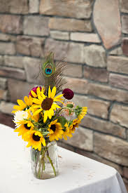 sunflower centerpiece wedding centerpiece