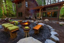 Gravel Fire Pit Area - cool candle holders landscape rustic with fire pit cauldron gravel