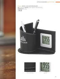 Desktop Pen Holder Digital Clock With Pen Holder Barron