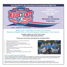 national night out event in martinez tuesday news24 680 com