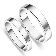 matching wedding rings for him and simple s925 sterling silver mens promise ring
