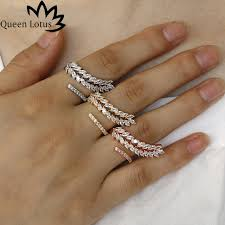 new fashion rings images Queen lotus new fashion ladies ring micro mosaic 3a zircon simple jpg