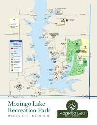 Missouri State Map Mozingo Lake Recreation Park Map By Greater Maryville Chamber Of