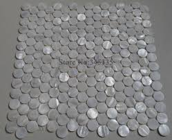 11pcs white penny round shell mosaic mother of pearl tile