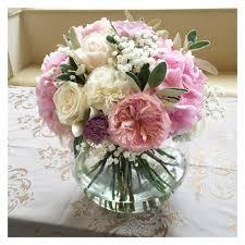 wedding flowers surrey pink hydrangea and peony fish bowl wedding centrepiece