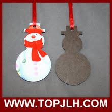 selling personalized ornaments sublimation blank