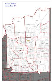 Census Tract Maps Map Of Amherst Indicating Census Tracts Erie County Legislature