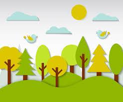 free kids forest background vector vector art u0026 graphics