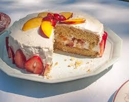 gluten free nifty cake oat flour sponge cake with strawberries